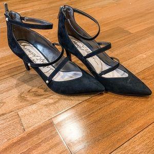 Libby Edelman Black Pointed Toe Heels Size 9